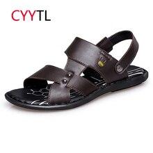 CYYTL/ г. Новые летние мужские сандалии удобные кожаные туфли Шлепанцы мужские вьетнамки Tenis Masculino Sandalias Hombre Zapatos