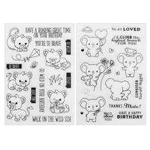 Lovely Cartoon Koala Transparent Silicone Seals Stamp DIY Scrapbooking Album Photo Diary Book Paper Card Maker Decor Gift Kit Se(China)