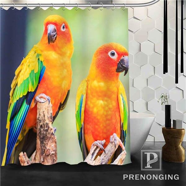 Bird Shower Curtain Fabric Waterproof Mildewproof Modern bathtub Bathroom Curtain @67 Multi Size S-171216*02-34