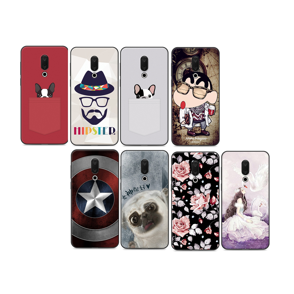 <font><b>360</b></font> Degree Protective Silicone Case for <font><b>MEIZU</b></font> <font><b>16</b></font> Fashionable TPU Phone Back Cover Shell for <font><b>MEIZU</b></font> <font><b>16</b></font> Plus 8Colors Soft Cover image