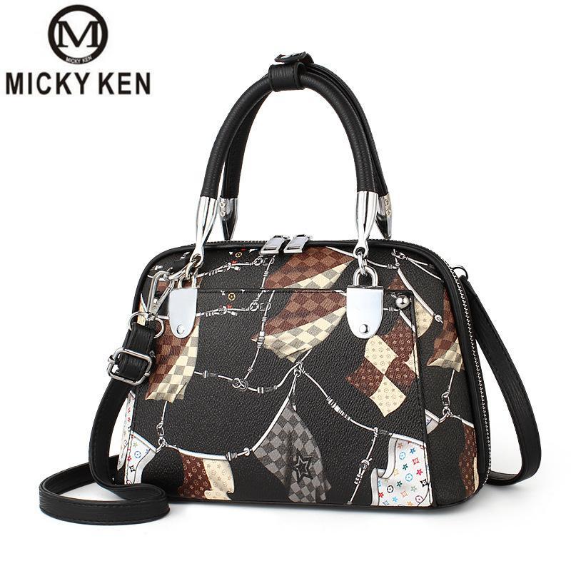 Woman Bag 2019 New Pillow Type Woman Shoulder Bag Geometric Pattern Woman Boston Bag Shopping Trip Large Capacity Woman Handbag