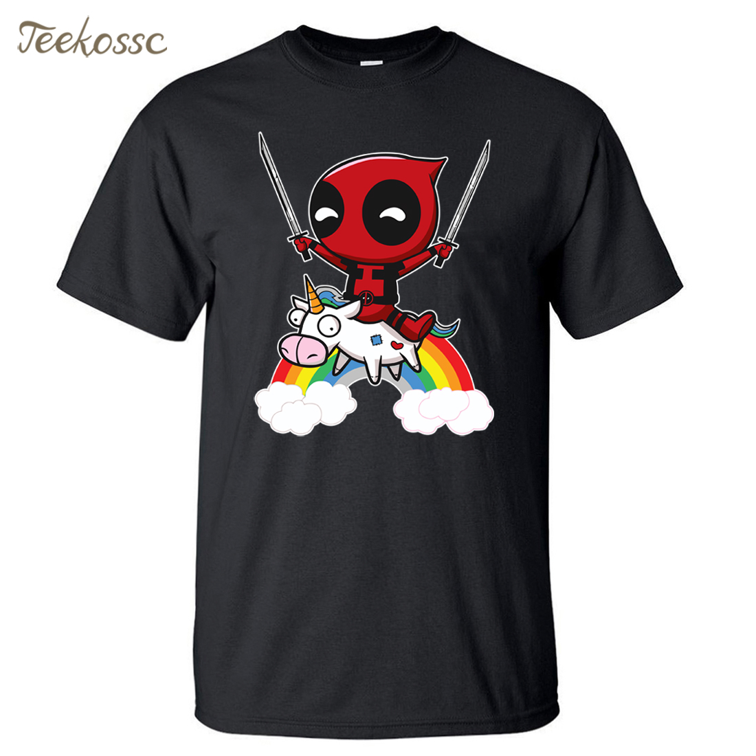 Deadpool Men T Shirt Funny Tshirt 2018 Summer Top Tee Hipster Mens T Shirts 100% Cotton Dead Pool T-Shirt Brand Clothing