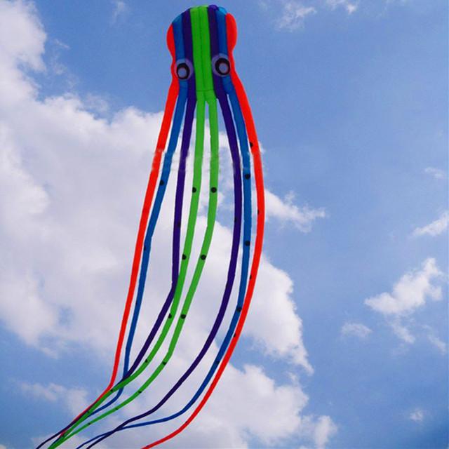 Promoción grande envío libre 15 m 23 m de gran línea de la cometa del pulpo kite tela ripstop bolsa de fábrica cometa suave kite albatros pie en el cielo