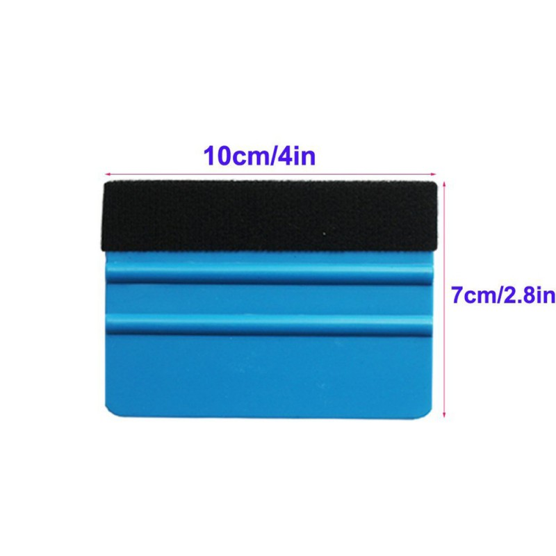 Car Vinyl Film wrapping tools Blue Scraper squeegee with felt edge size 12.5cm*8cm Car Styling Stickers Accessories 9449 16 8cm 13 6cm hot sexy girl creative decor car accessories vinyl stickers black silver s3 5751