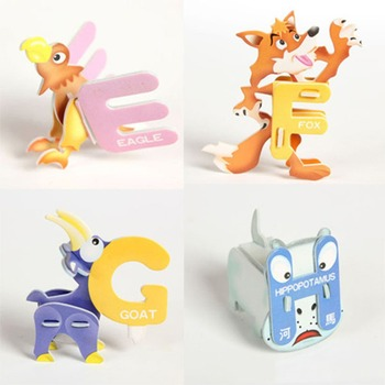 Juguetes Educativos para bebés ABC para aprendizaje temprano, rompecabezas de papel de...
