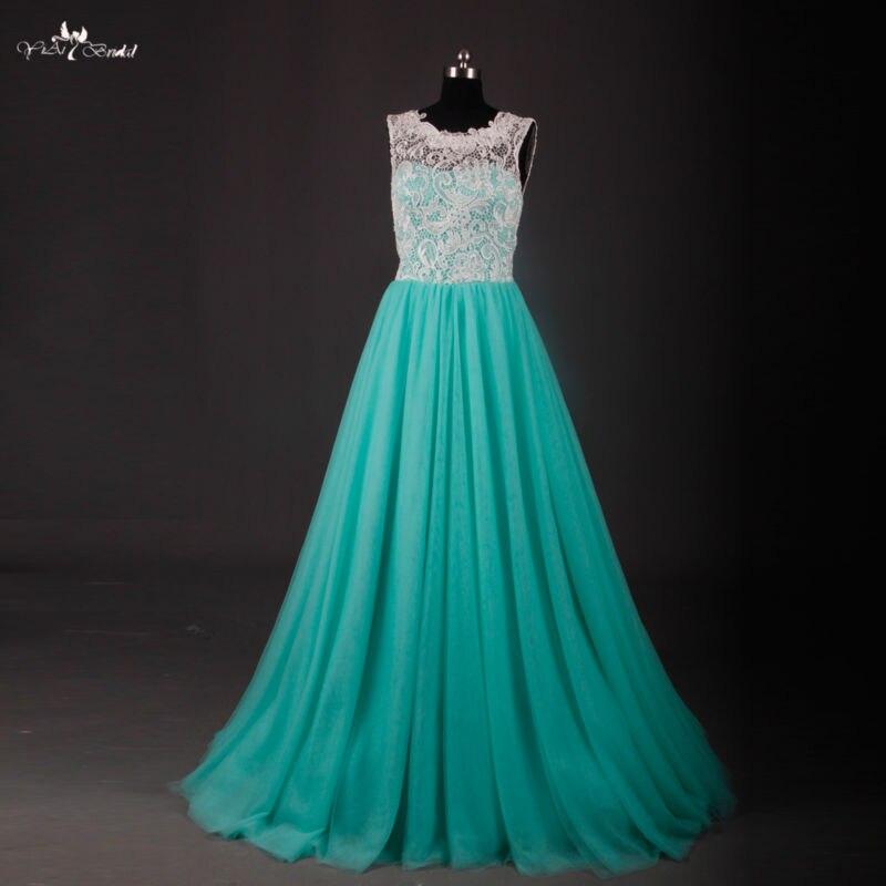 RSE611 jupe en Tulle gonflée longue blanc et vert menthe robes de bal longueur de plancher