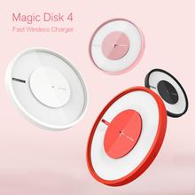 Nillkin Magic Disk 4 Fast Qi Wireless Charger For iPhone X 8 Samsung S8 Plus S7 Note 5 and Other Phone Fast Wireless Charger