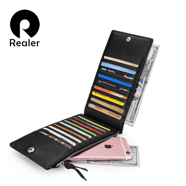 REALER 2016  Women Wallet With Plaids High Quality  Fashion Long Coin Purse Ladies Wallet Female Card Holder PU Leather