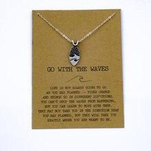 """SanLan 1 шт идут в комплекте ожерелье с подвеской """"волны"""" Океан ювелирные изделия"""