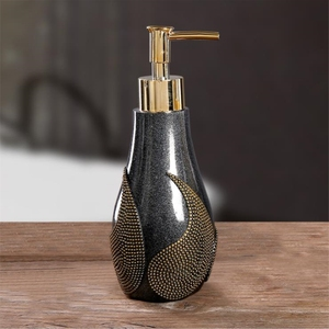 Image 4 - 1PC Creative Resin Soap Bottle Hotel Home Shampoo Dispenser Press Hand Sanitizer Bottle Soap Dispenser Set
