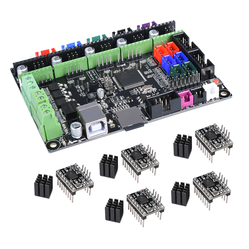 BIGTREETECH SKR V1 1 Control Board 32-Bit CPU Smoothieboard Like MKS GEN L  V1 0 3D Printer Parts TMC2130 TMC2208 DRV8825 A4988