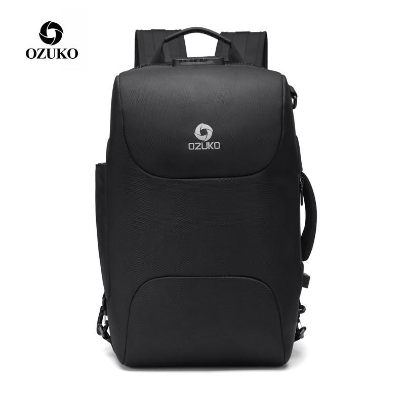 OZUKO Men Business Backpacks USB Charging 15.6 Laptop Backpack Fashion School Bags Multifunction Anti-thief Travel Male MochilaOZUKO Men Business Backpacks USB Charging 15.6 Laptop Backpack Fashion School Bags Multifunction Anti-thief Travel Male Mochila