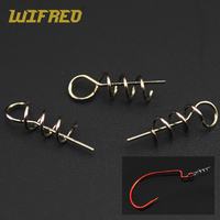 Wifreo 1000PCS/Pack Soft Lure Loader / Locker Connector Bass Crappie Fishing Worm Hook Centering Pin S Bait Accessory W