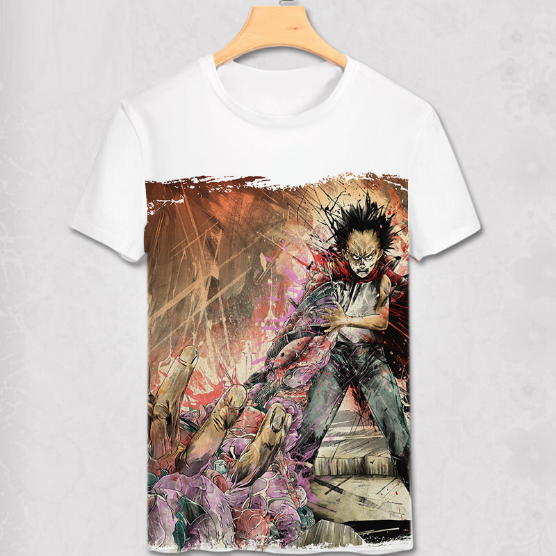 Akira Shotaro Kaneda Capsule Motorcykel Japansk Anime Film T-shirt - Herrkläder - Foto 4