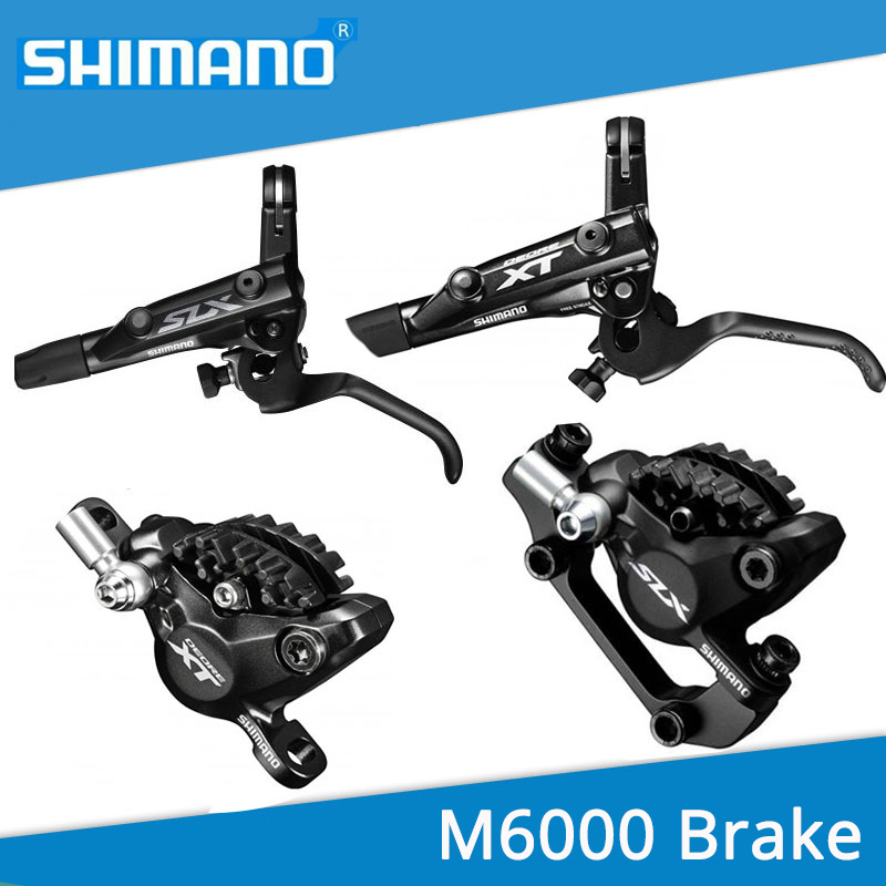 SHIMANO BR BL DEORE M615 M6000 Brake Lever & Caliper For Hydraulic Disc Brake 800/1400mm Front Rear Black shimano slx bl m7000 m675 hydraulic disc brake lever left right brake caliper mtb bicycle parts