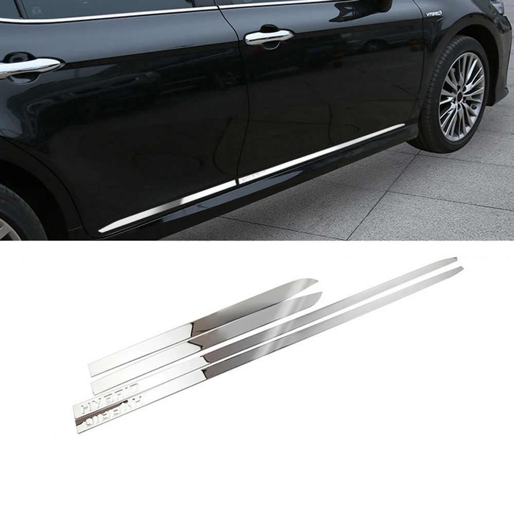 Toyota Camry Accessories >> Imtfoo Hybrid Stainless Steel Door Side Panel Molding Garnish For 2018 2019 Toyota Camry Accessories Car Styling