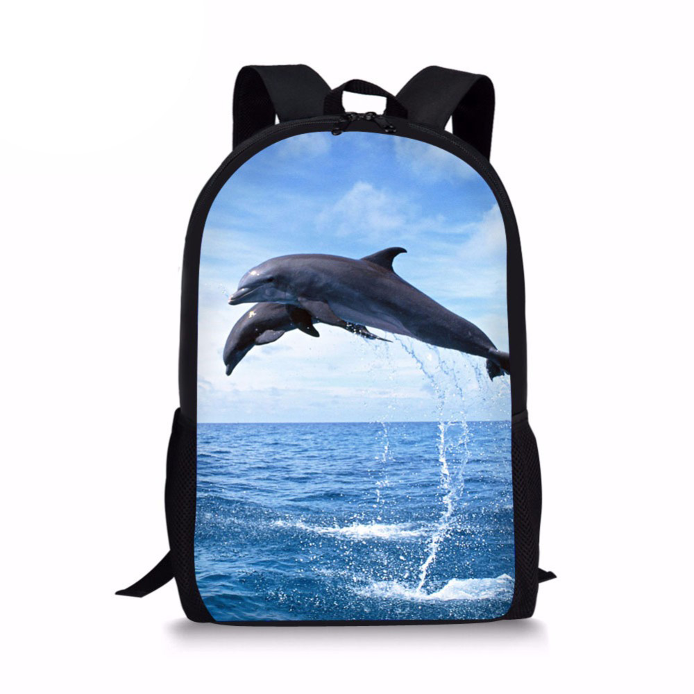 3D Dolphin Printing Backpack Women Schoolbag Back Pack Leisure Ladies Girls Backpacks Teens Travel Bags for Female Male