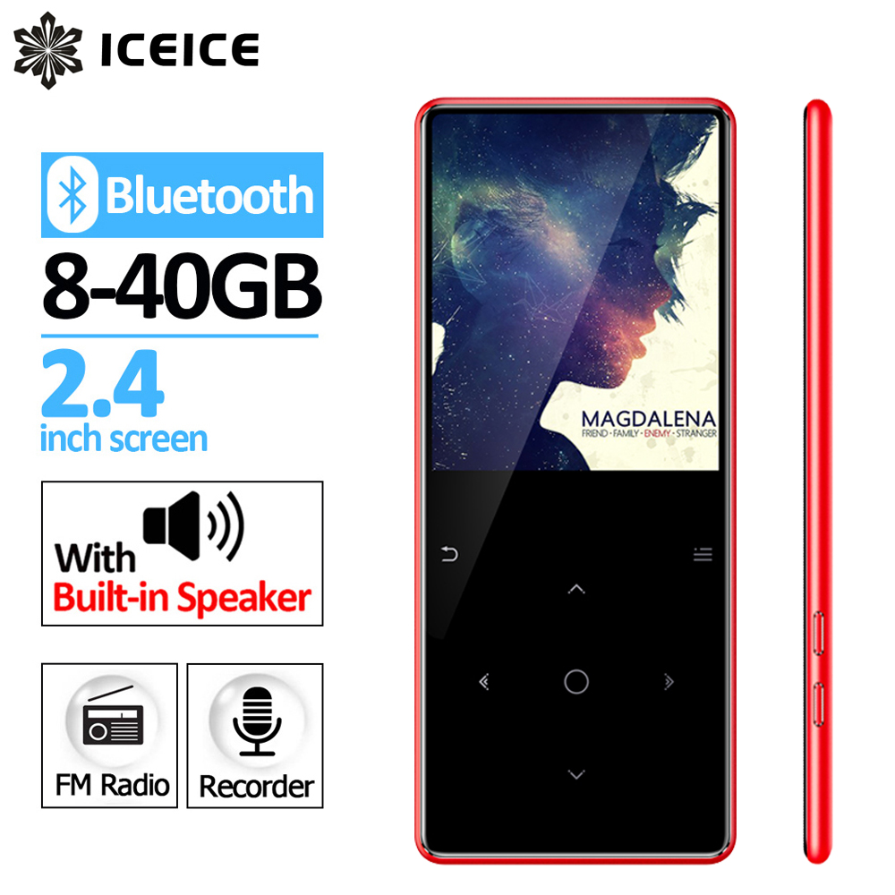 ICEICE Newest MP3 Player with Bluetooth Speaker Touch Keys and Built in 8GB 16G HiFi Portable