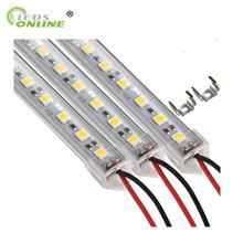 цена на 6PCS 50cm DC 12V SMD 5050 36leds U-Type Hard Rigid Strip Bar Light Aluminium shell with milky Transparent cover LED Bar Light
