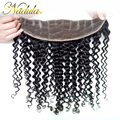 7A Brazilian Lace Frontal Closure 13x4 Ear to Ear Lace Frontals Brazilian Curly Virgin Hair Free Part full Frontal Lace Closure