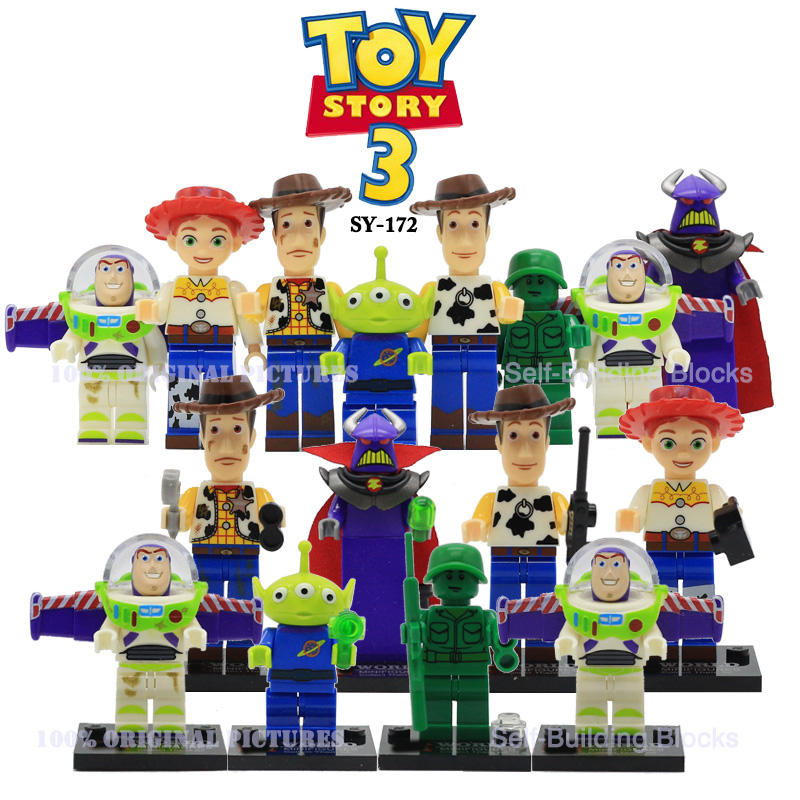 SY172 Toy Story Buzz Light-year Woody Emperor Zurg Squeezy Aliens Building Blocks Bricks Toys for Kids Christmas Gift toy 4 story minifigures sy172 toy story buzz lightyeartoys woody jessie emperor aliens building blocks sets model