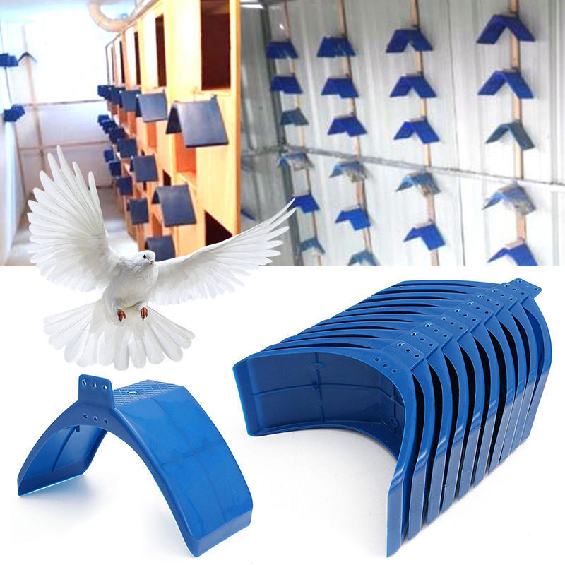10/20PCS High Quality Heat Resisting Long Service Life Blue Plastic Pigeon Dove Birds Rest Stand Frame Dwelling Perch