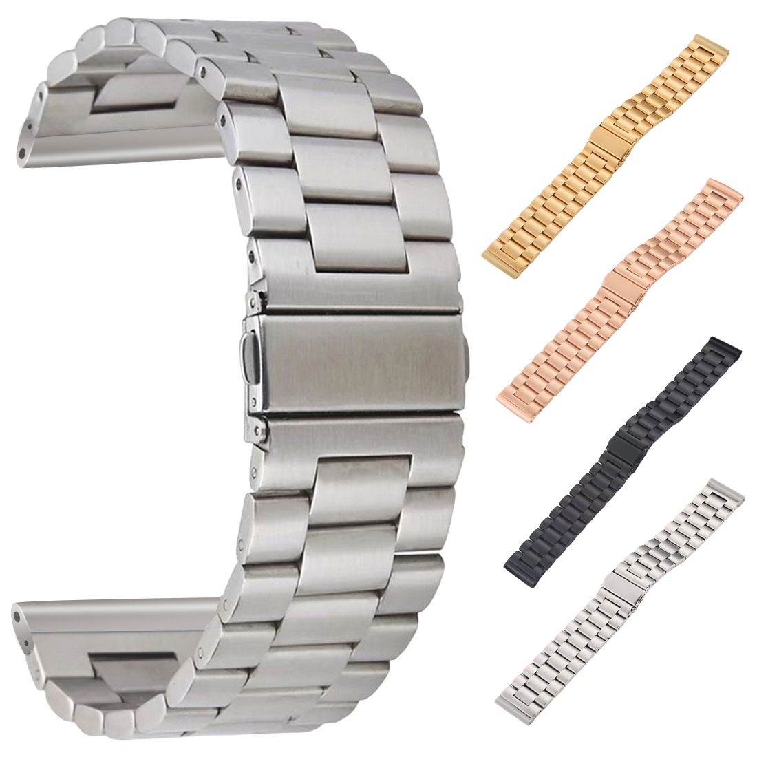 Stainless Steel metal band Strap for apple watch 3/2/1 42 38 mm link bracelet wrist belt Watchband for iWatch AccessoriesStainless Steel metal band Strap for apple watch 3/2/1 42 38 mm link bracelet wrist belt Watchband for iWatch Accessories