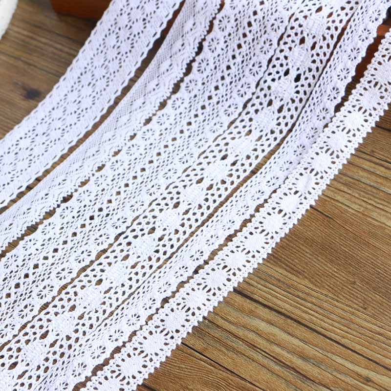 White Lace Diy-Material 5-Yards Garment-Accessories High-Qualit Home 2-6CM Furnishing