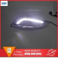 Car Styling For Hyundai Sonata 8 LED DRL For Sonata 8 Led Fog Lamps Daytime Running