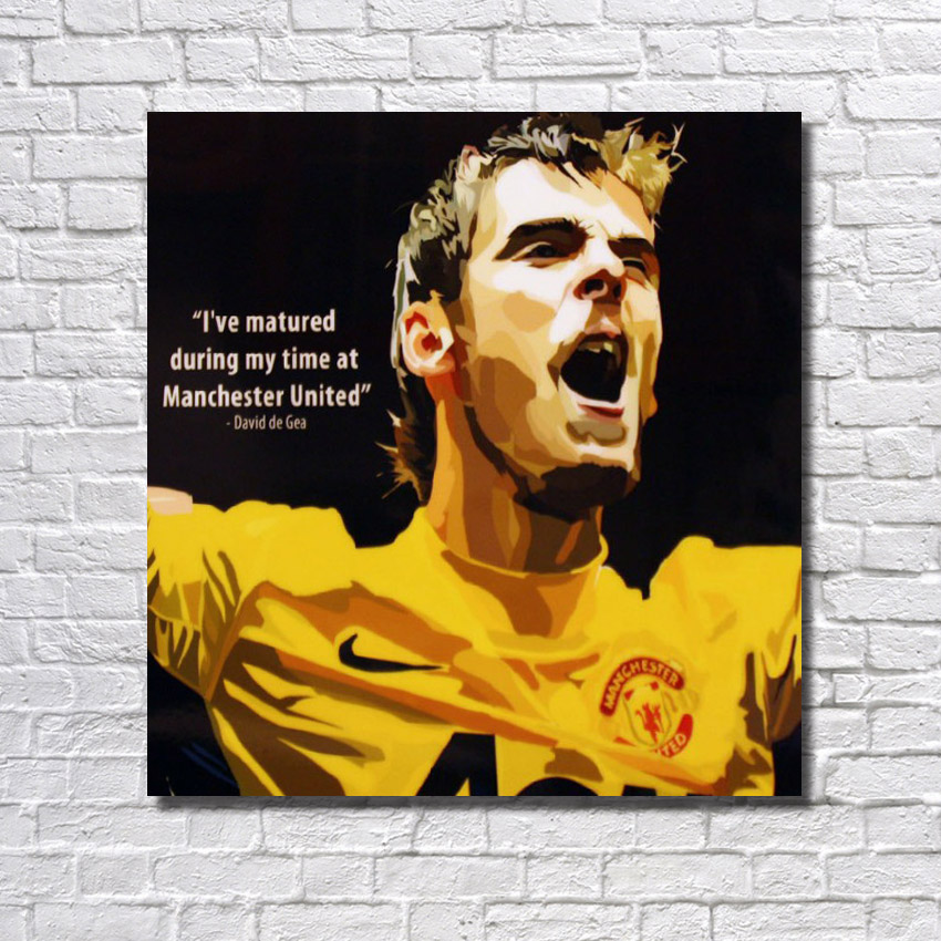 ᓂNew Hand painted Famous Football Star Painting Wall Art Home ...