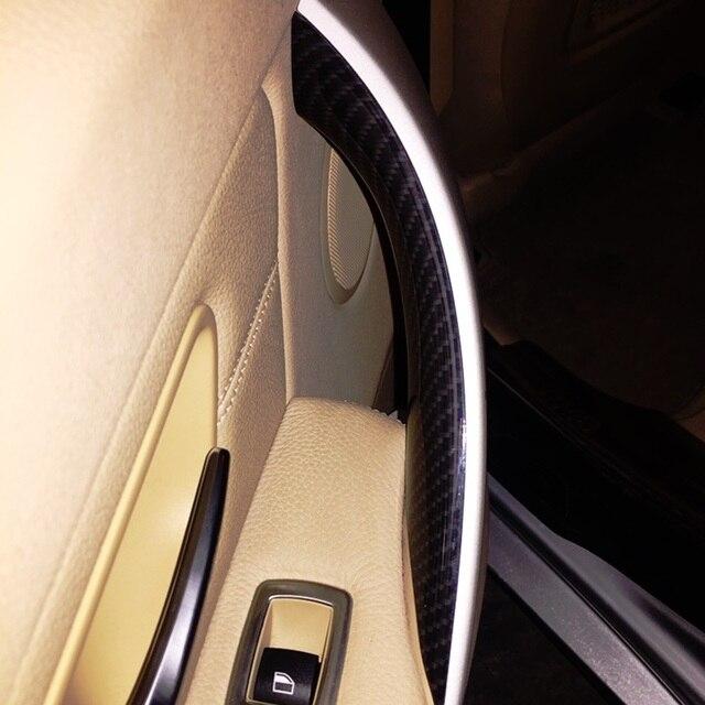 Poignée de porte intérieure BMW 3 4   Style carbone, poignée de porte intérieure, protection de cadre pour BMW 3 4 série F30 F35 2012 2013 2014 2015 2016