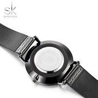 Shengke Fashion Black Women Watches 2017 High Quality Ultra thin Quartz Watch Woman Elegant Dress Ladies Watch Montre Femme SK 5