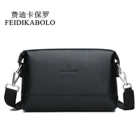 FEIDIKABOLO NEW Genuine Leather Shoulder Bags Men Messenger Bag Promotional Small Crossbody Bag Business Man Bag Multifunction