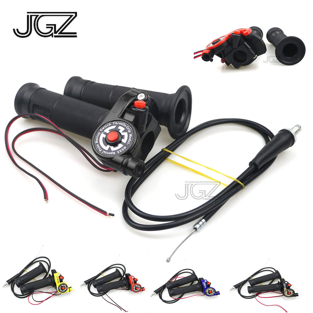 Universal 22mm Motorcycle Quick Twister Throttle Hand Grips On-Off Ignition Motocross Switch Cable For Kawasaki Yamaha Honda KTM