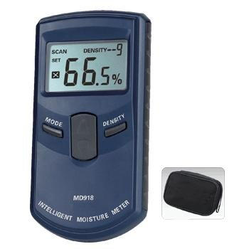INDUCTIVE MOISTURE METER, digital wood moisture meter MD918 4%~80% Resolution: 0.5% digital inductive wood moisture meter furniture crafts flooring tobacco cotton 0 80% range tester