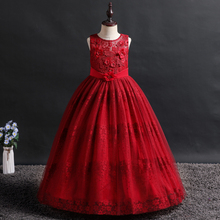 new dress girl wedding baby girl clothes princess girl dress girl dress long Sleeveless Stage performance Wedding presiding wedding girl