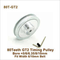 POWGE 80 dents 2GT alésage de poulie de distribution 5/6/6.35/8/10mm largeur de coupe 6/10mm GT2 courroie de distribution imprimante 3D 80 dents 80 T GT2 poulie de distribution