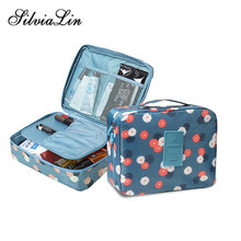 Neceser Zipper Beauty Case Women Makeup Bag Cosmetic Bag Case Make Up Organizer Toiletry Bag Kits Storage Travel Wash Pouch(China)