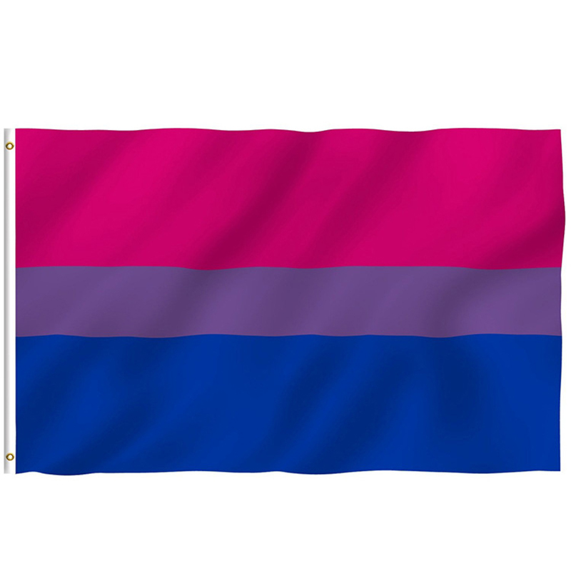 free shipping xvggdg <font><b>Bisexual</b></font> <font><b>Pride</b></font> Flag LGBT 90*150cm Pink Blue Rainbow Flag Home Decor Gay Friendly LGBT Flag Banners image