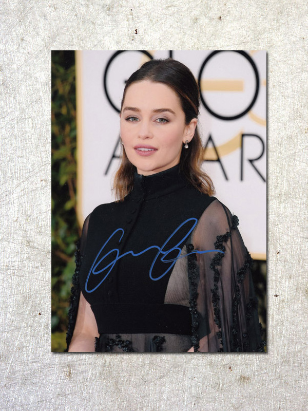 signed Emilia Clarke Game of Thrones autographed original photo 7 inches free shipping  092017B kellie evans and dave clarke personality correlates of dissociation