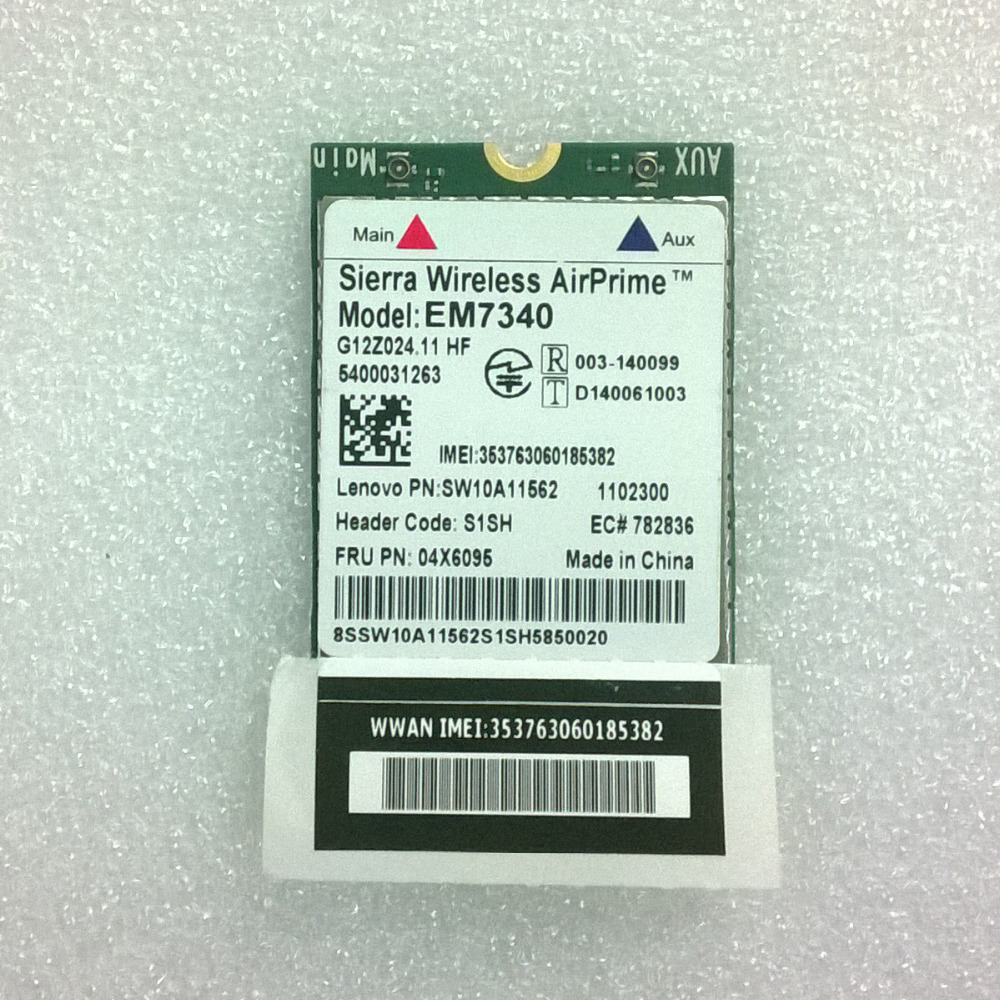 New Sierra wireless AirPrime EM7340 4G LTE NGFF Module For Lenovo Thinkpad X260 Series, FRU 04X6095 telit ln930 dw5810e m 2 twh3n ngff 4g lte dc hspa wwan wireless network card for venue 11