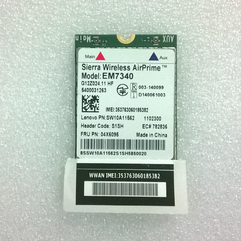 New Sierra Wireless AirPrime EM7340 4G LTE NGFF Module For Lenovo Thinkpad X260 Series, FRU 04X6095