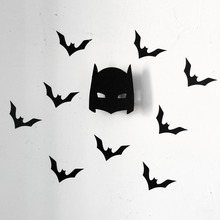 Cool bat man wooden clothes hook for boys room wall decorate children room  ECO friendly hanger