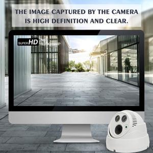 Image 3 - Cámara tipo domo de seguridad inteligente, dispositivo de visión nocturna a todo Color con movimiento activado, WiFi 1080P HD, CCTV de vigilancia interior, Audio bidireccional