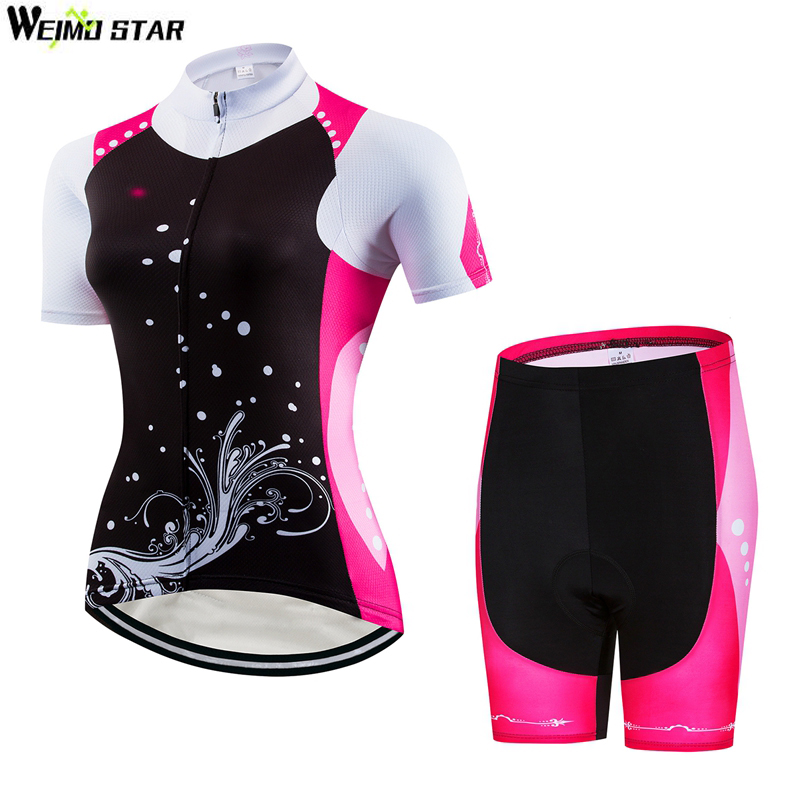 Weimostar womens cycling Jersey short sleeve set quick dry ropa ciclismo bike bicycle clothing MTB biking shirt shorts suit ...