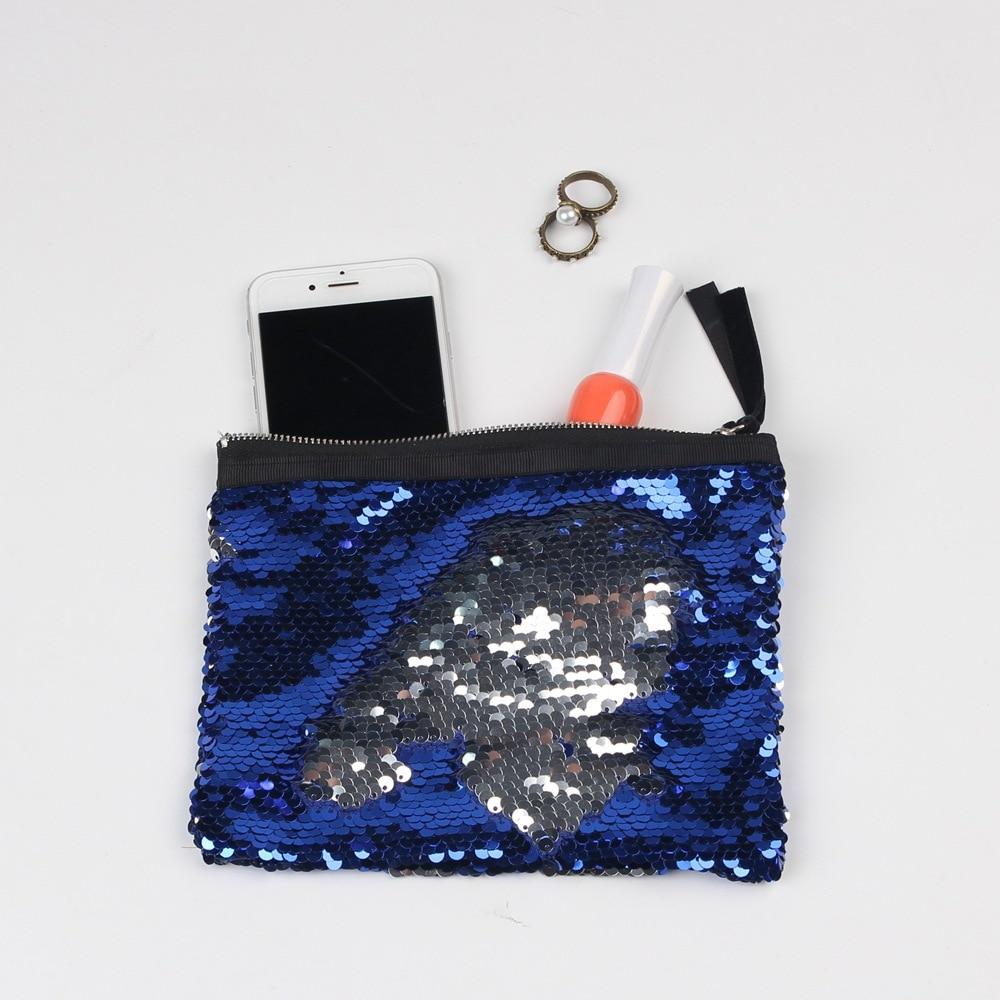 Mermaid Sequin Clutch Bag 19*15cm Women Reversible Sequins Glitter Handbag Evening Clutch Bag Purse Cosmetic bag clutch adriana muti clutch