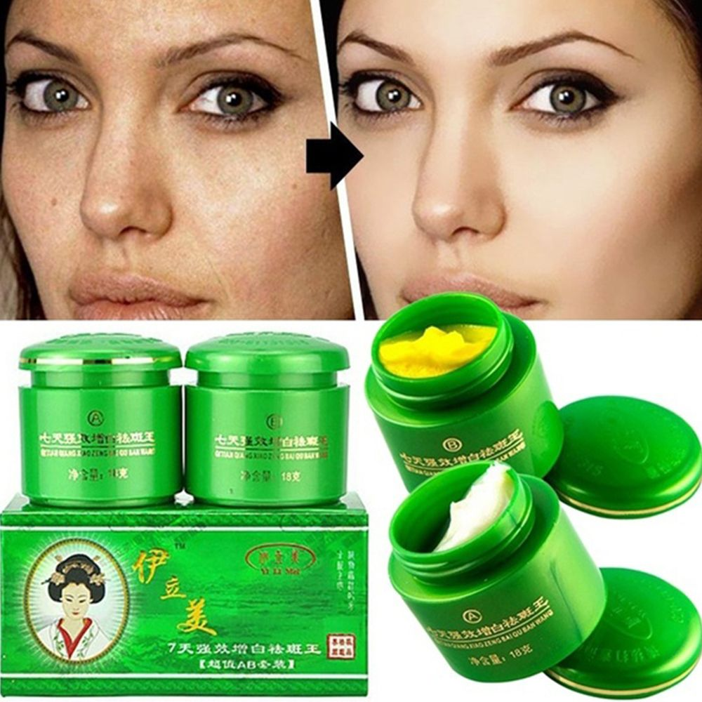 2pcs/Set Face Whitening Cream Brightening Freckle Dark Spot Corrector Removal Fade Blemish Melasma Skin Care