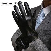Mannen Handschoen Rijden Vijf