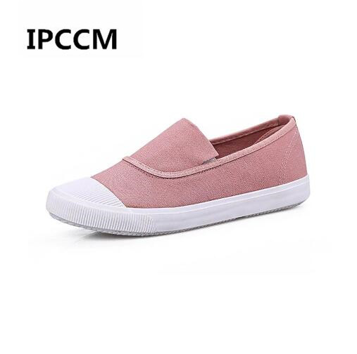 2018 New Summer Canvas Student Flat Comfortable White Shoes Women Basic Casual Shoes Slip-on Canvas Walking Shoes Female e lov women casual walking shoes graffiti aries horoscope canvas shoe low top flat oxford shoes for couples lovers