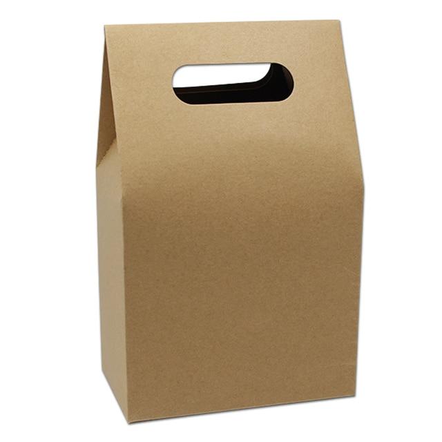 150pcs Lot 10 5 15 6cm Bottom Kraft Paper Handle Pe Bo Stand Up